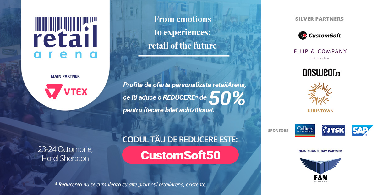 Voucher discount retailArena CustomSoft50